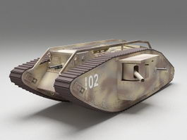 World War 1 British Tank 3d preview