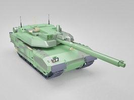 Leclerc main battle tank 3d model preview