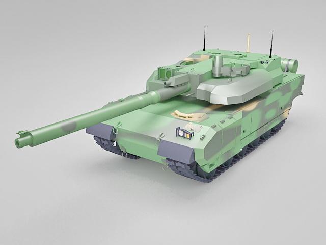 Leclerc main battle tank 3d rendering