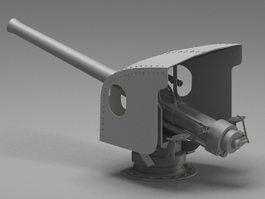 Navy artillery turret 3d model preview