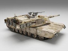 M1 Abrams main battle tank 3d model preview