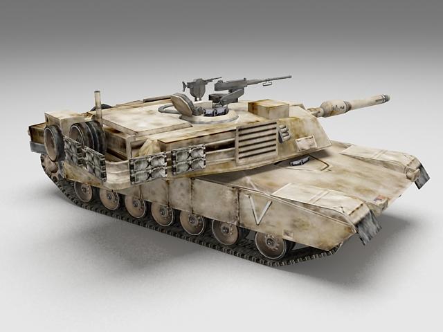 M1 Abrams main battle tank 3d rendering