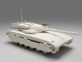 Merkava tank 3d model preview