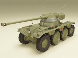 AMX-13 light tank 3d model preview