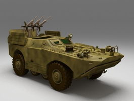Russian BRDM-1 armored scout car 3d model preview
