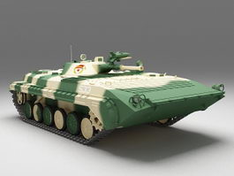 Russian BMP-1 infantry fighting vehicle 3d model preview