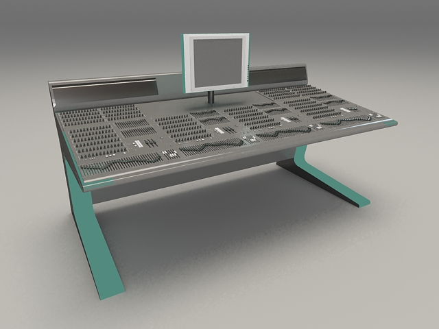 Audio digital mixing console 3d rendering