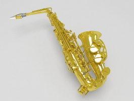 Alto saxophone 3d preview