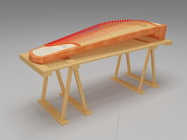 Chinese Guzheng string instrument 3d preview