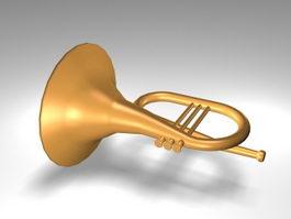 German horn instrument 3d preview