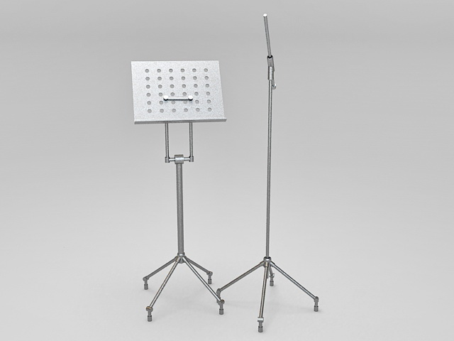 Folding music stand 3d rendering