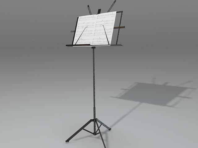 Floor music stand 3d rendering