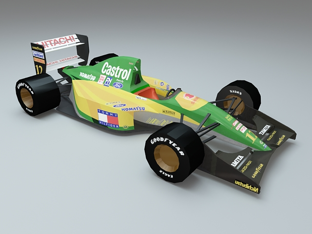 Lotus 107 Ford Tamiya 3d rendering