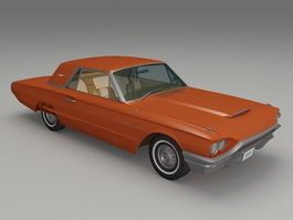 Ford Thunderbird hardtop 3d model preview