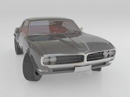 Pontiac Firebird Muscle car 3d preview