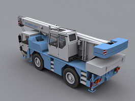 Mobile crane 3d preview