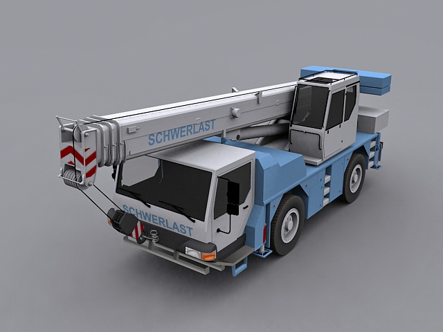 Mobile crane 3d rendering