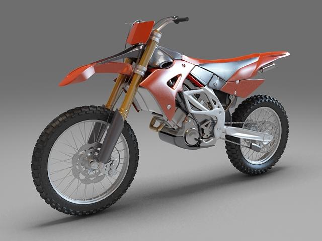 Dirt bike 3d rendering