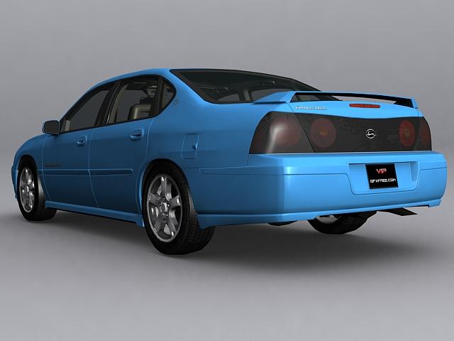 2003 Chevrolet Impala LS 3d rendering