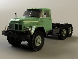 Soviet Union ZIL 131 army truck 3d preview