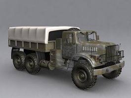 KrAZ-255 military truck 3d preview