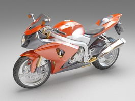 Dual-sport motorcycle 3d preview