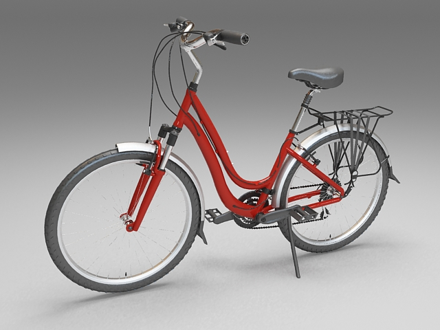 Contemporary utility bicycle 3d rendering