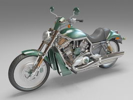 Cruiser motorcycle 3d model preview