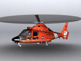 Eurocopter HH65 Dolphin helicopter 3D Model