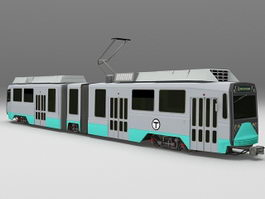Articulated tram 3d preview