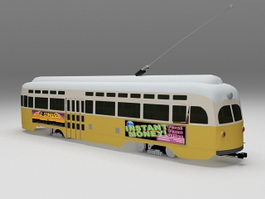 PCC streetcar tram 3d preview