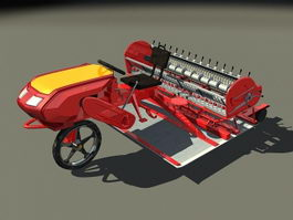 Small asphalt paving machine 3d model preview