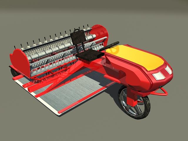 Small asphalt paving machine 3d rendering