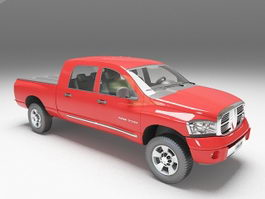 Dodge Ram pickup truck 3d preview