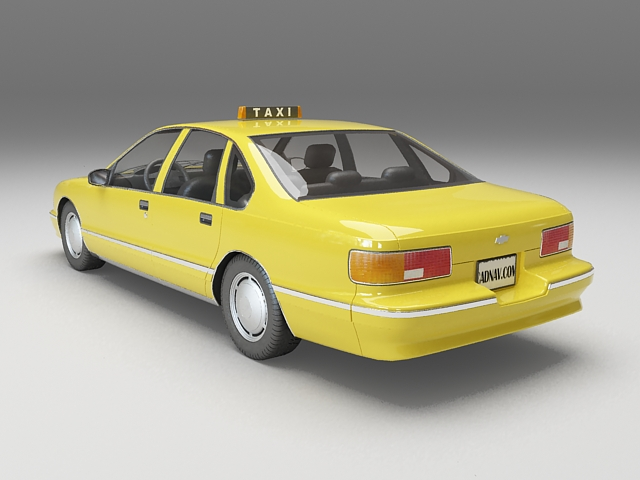 Chevy taxi cab 3d rendering