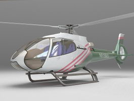 Police helicopter 3d model preview