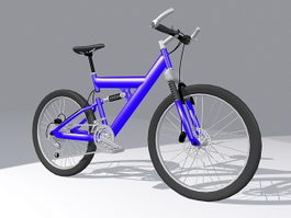 Full suspension mountain bike 3d preview