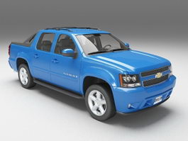 Chevrolet Avalanche blue 3d preview