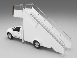Passenger boarding stair truck 3d preview