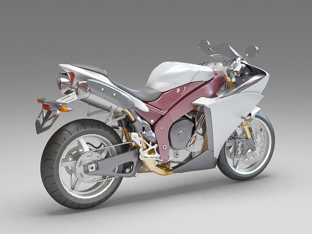 Street motorcycle 3d rendering