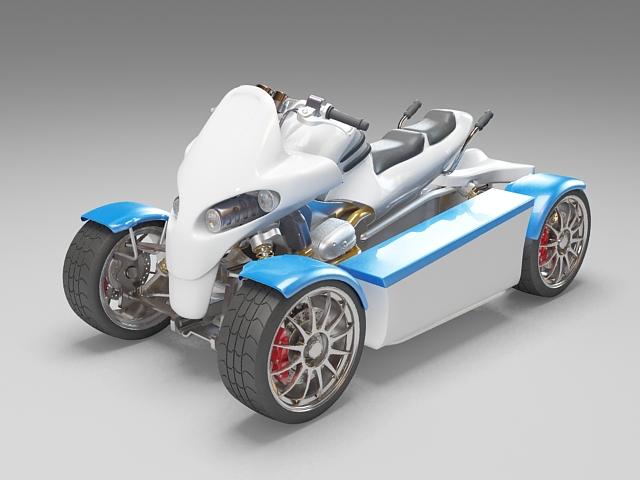 ATV Amphibious Vehicle 3d rendering