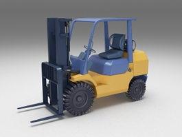 Forklift truck 3d model preview