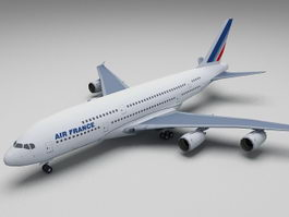 Air France Airbus A380 3d preview