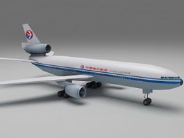 China Eastern Airlines Plane 3d preview