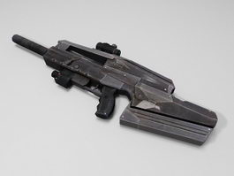 Semi-Automatic rifle 3d preview