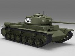 Russian KV 85 Tank 3d model preview