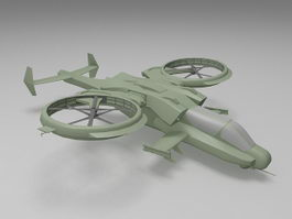 Military transport helicopter 3d model preview