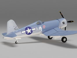 WW2 F4U-1 Corsair fighter aircraft 3d preview
