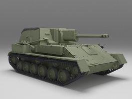 Russian SU-76 Self-Propelled Gun 3d model preview