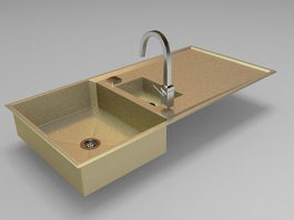 Kitchen sink design 3d preview
